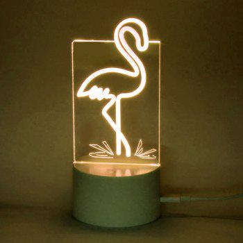 Flamingo Shape Remote Control Lamp With Color Change -  TRANSPARENT