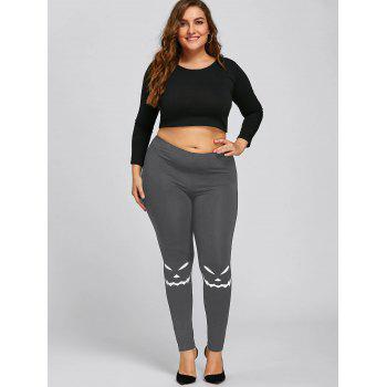 Leggings Halloween Grande Taille - Gris 3XL