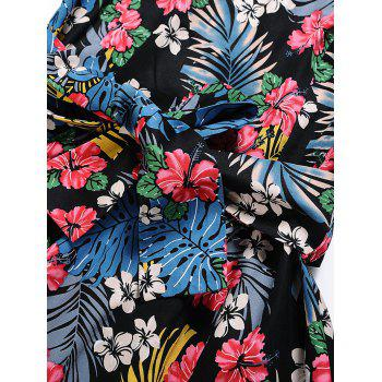 Vintage Tropical Print Skater Pin Up Dress - S S