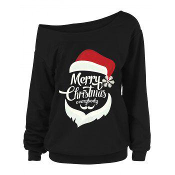 Sweat-shirt Grande Taille Merry Christmas et Père Noël