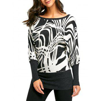 Long Sleeve Ribbed Graphic Sweater