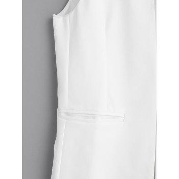 Open Front Long Vest - WHITE XL