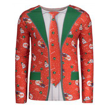 Christmas Patterned Long Sleeve T-shirt