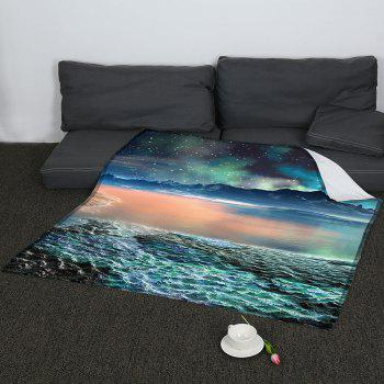 Universe Galaxy Pattern Coral Fleece Sofa Blanket - COLORMIX COLORMIX