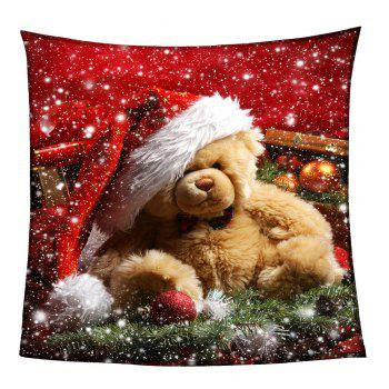 Christmas Bear Pattern Coral Fleece Sofa Blanket - COLORFUL COLORFUL