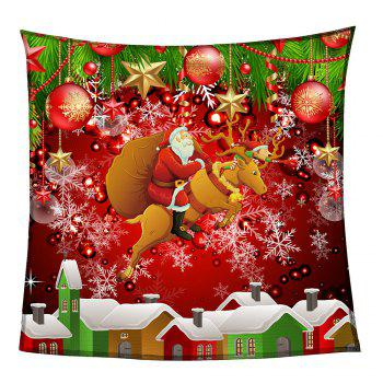 Coral Fleece Santa Claus and Baubles Pattern Blanket - COLORFUL COLORFUL