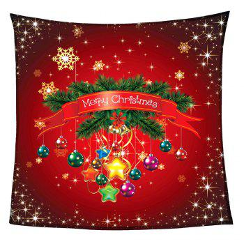 Coral Fleece Christmas Baubles Pattern Blanket - RED RED