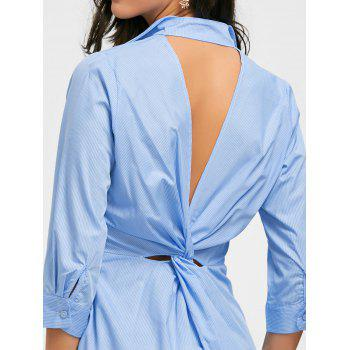 Back Twist Cut Out High Low Mini Dress - CLOUDY CLOUDY