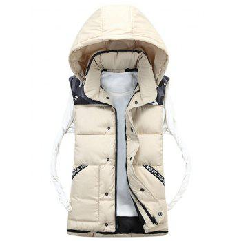 Camo Pattern Detachable Hood Padded Vest - OFF-WHITE OFF WHITE