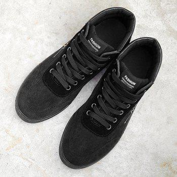 Graphic Sole Embroidery High Top Skate Shoes - BLACK GOLD 39