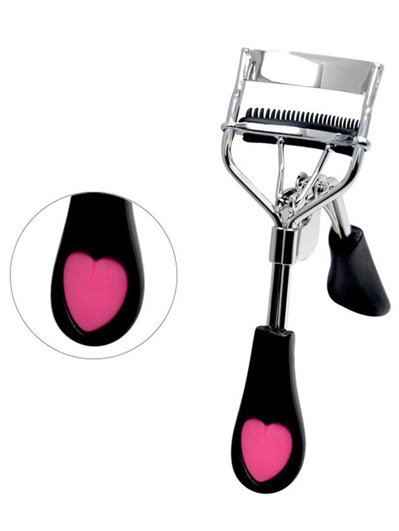 Heart Embellished Wide Angle Eyelash Curler - BLACK