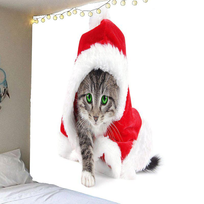 Wall Art Waterproof Christmas Cat Hanging Tapestry waterproof merry christmas graphic pattern wall hanging tapestry