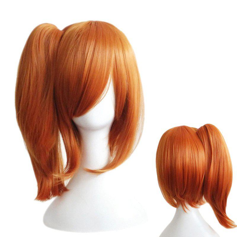 Side Bang Medium Straight Ponytail Love Live Kousaka Honoka Cosplay perruque synthétique - Perle Kumquat