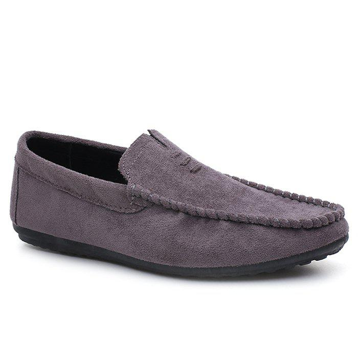 Faux Suede Soft Sloe Mocassin Shoes - Gris 39