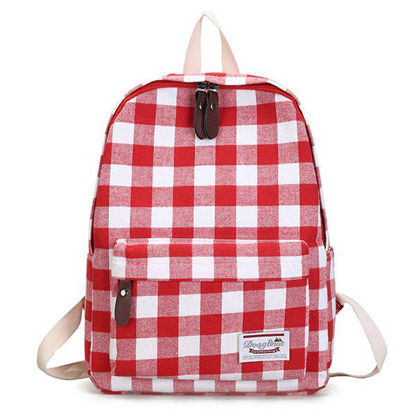 Sac à dos en toile Plaid School - Rouge
