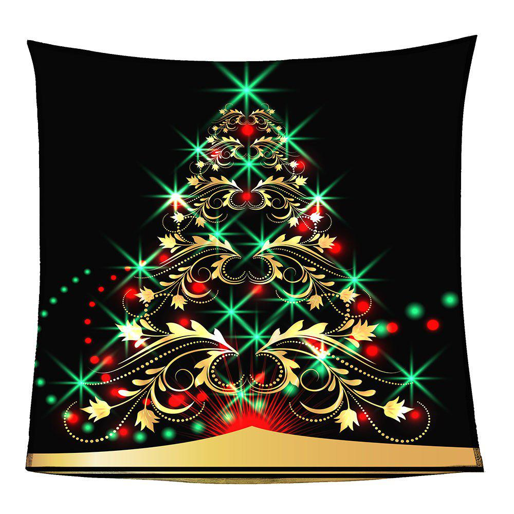 Coral Fleece Colorful Christmas Tree Pattern Blanket - COLORFUL W59 INCH * L79 INCH