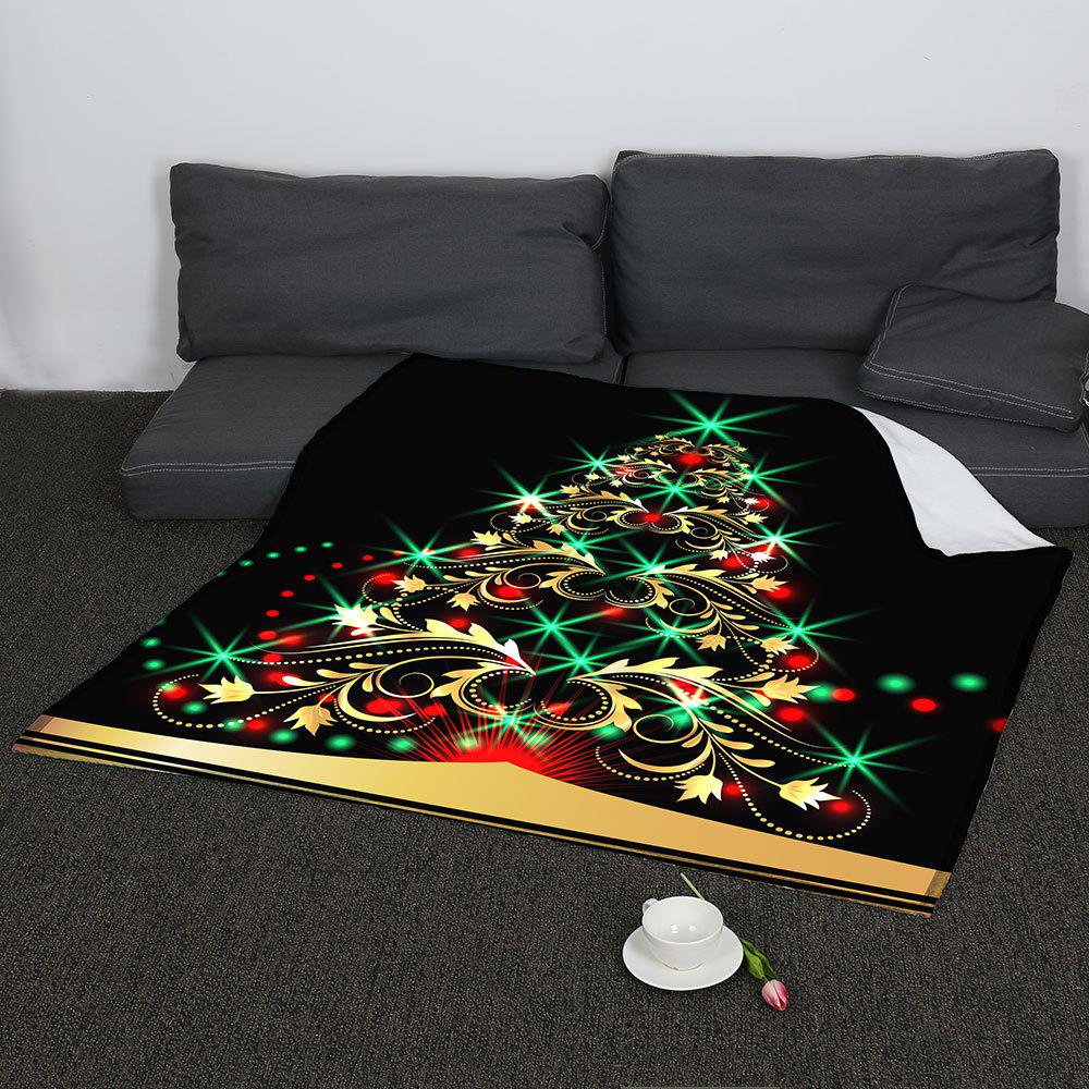 Coral Fleece Colorful Christmas Tree Pattern Blanket - COLORFUL W59INCH*L70INCH