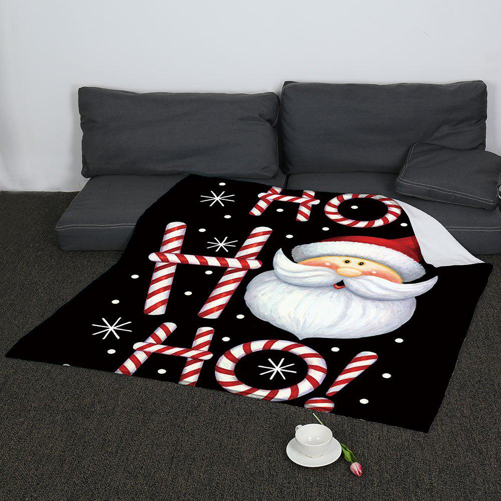 Coral Fleece Cartoon Santa Claus Blanket - COLORFUL W59 INCH * L79 INCH