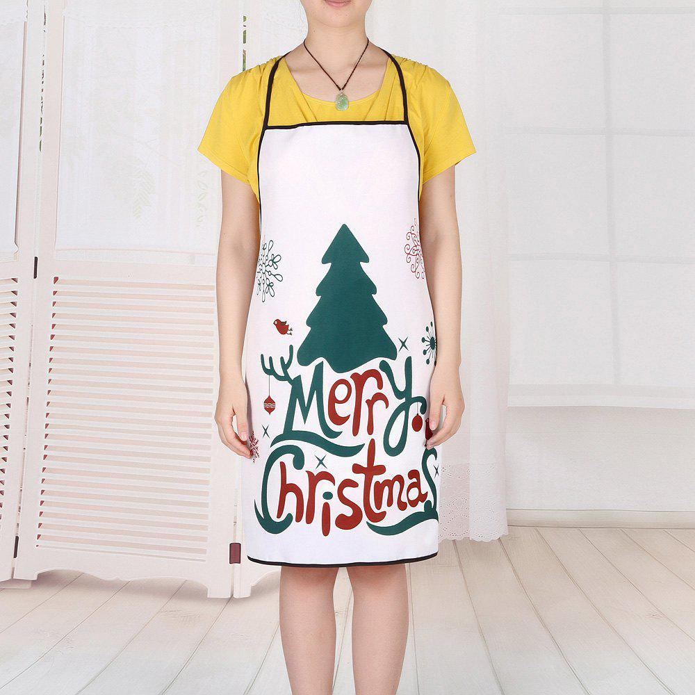Christmas Tree Letters Print Waterproof Apron - COLORMIX 80*70CM