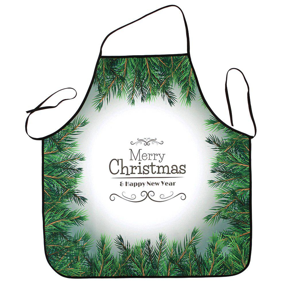 Christmas Pine Tree Print Waterproof Apron - COLORMIX 80*70CM