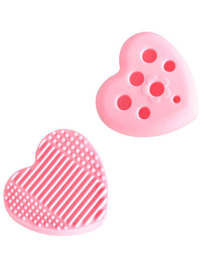 Heart Shape Silicone Cleaning Tool Brush Eggs - PINK
