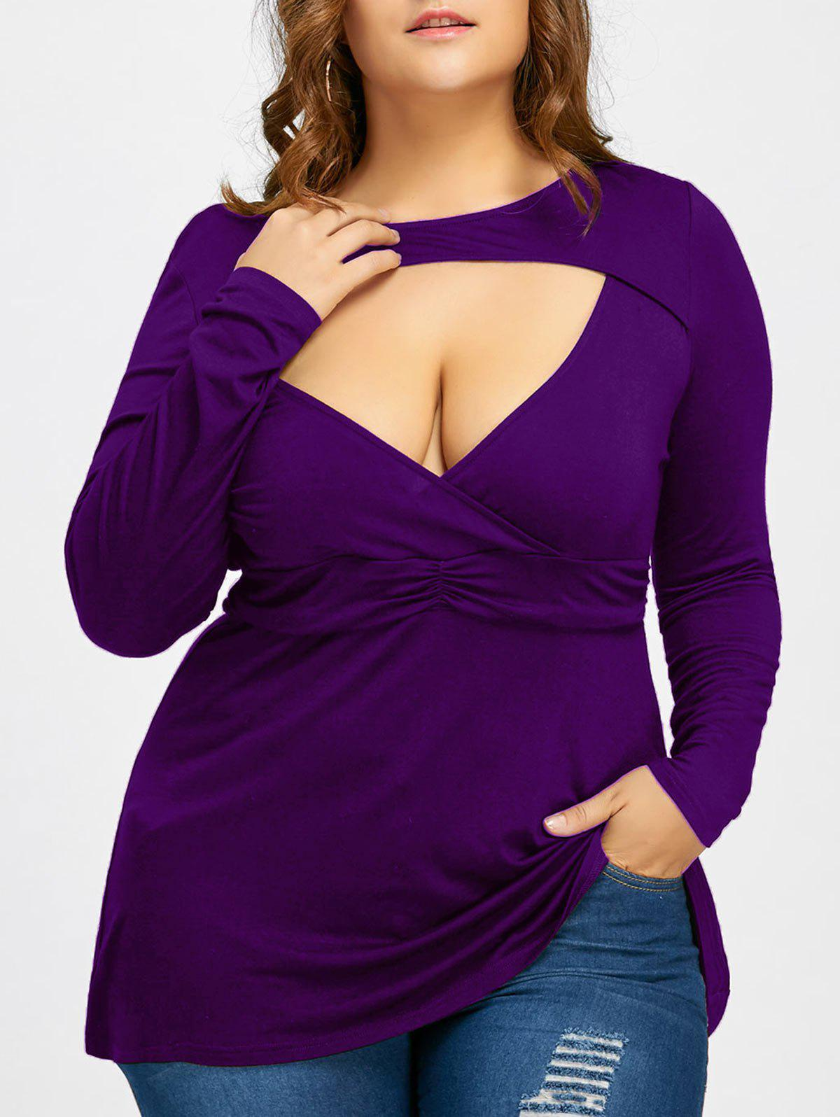 Empire Waist Plus Size Cut Out T-shirt от Dresslily.com INT