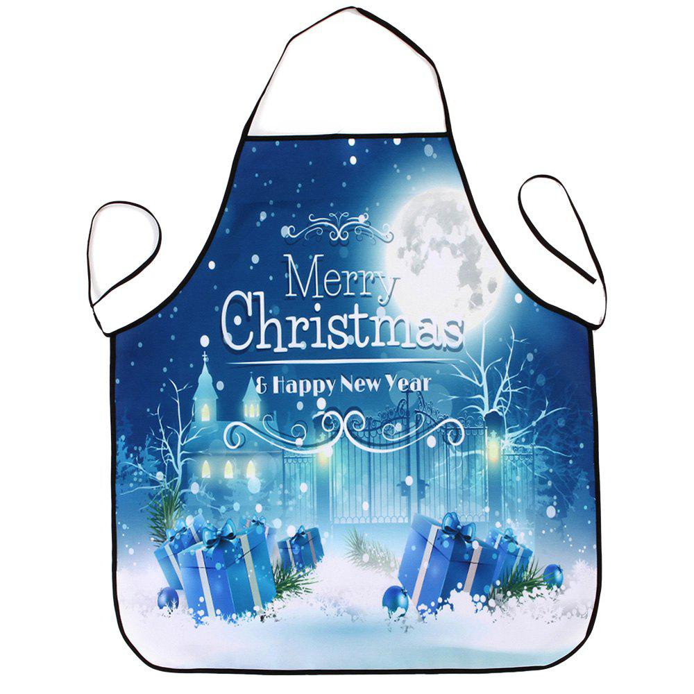 Christmas Night Gifts Print Waterproof Apron - COLORMIX 80*70CM