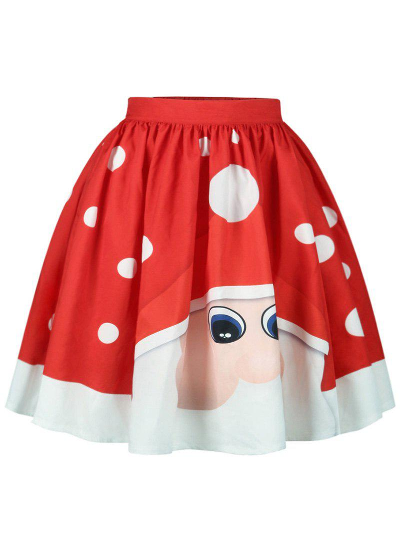 Christmas Polka Dot Santa Claus Print Skirt my 1st christmas santa claus white top minnie dot petal skirt girls outfit nb 8y
