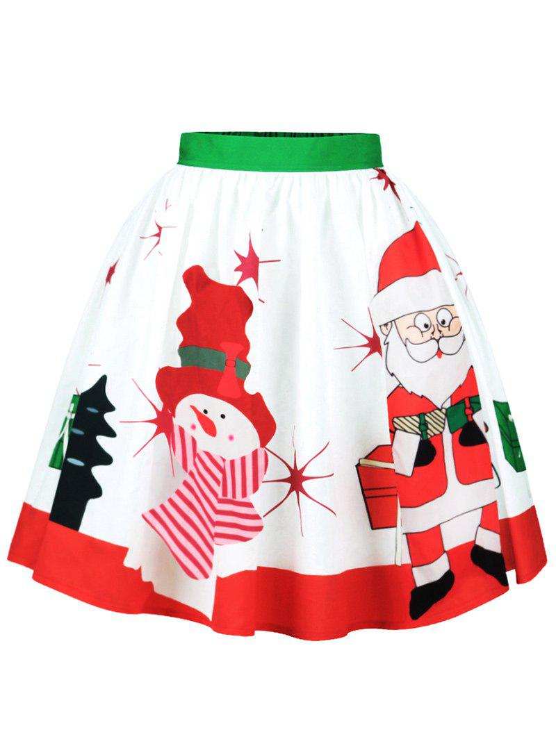 Christmas Santa Claus Snowman Skirt - COLORMIX XL