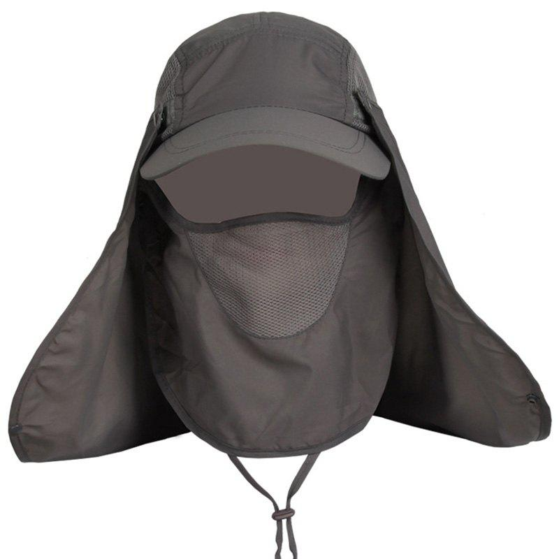 Outdoor Sport Detachable Quick Dry UV Protection Hat - DARK GRAY
