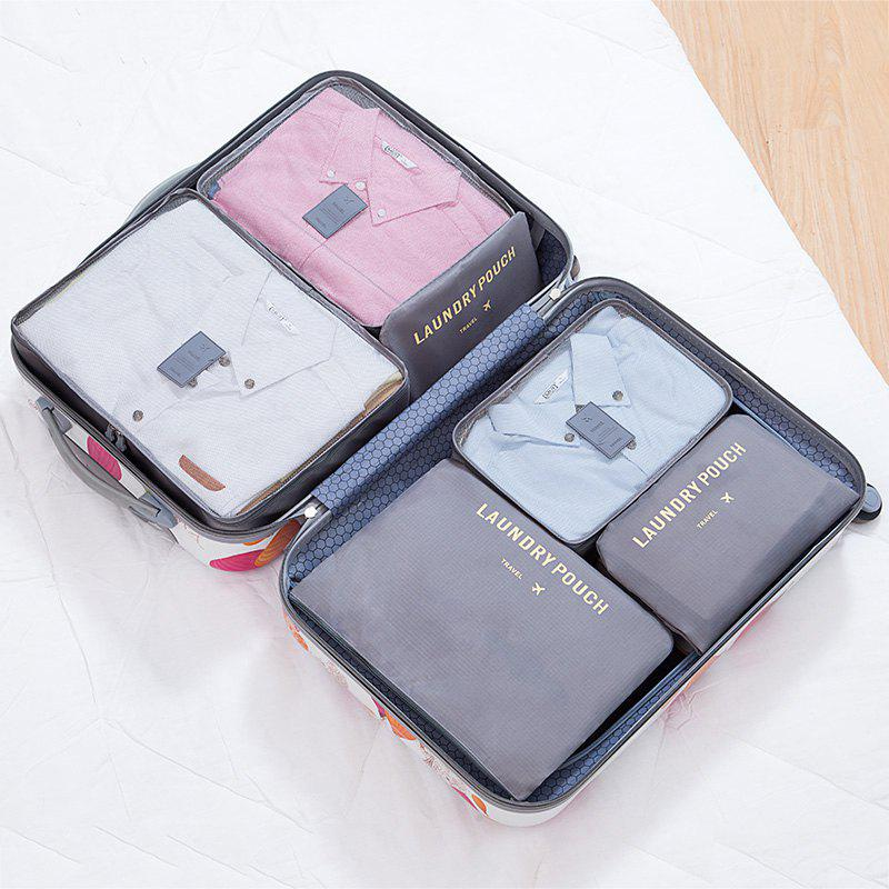6 Pcs Travel Organizer Storage Bags - GRAY