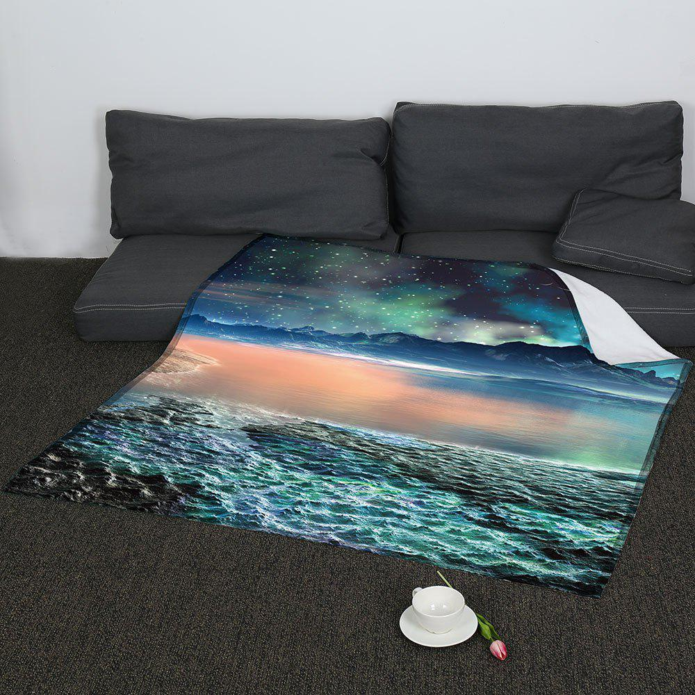 Universe Galaxy Pattern Coral Fleece Sofa Blanket - COLORMIX W59INCH*L70INCH