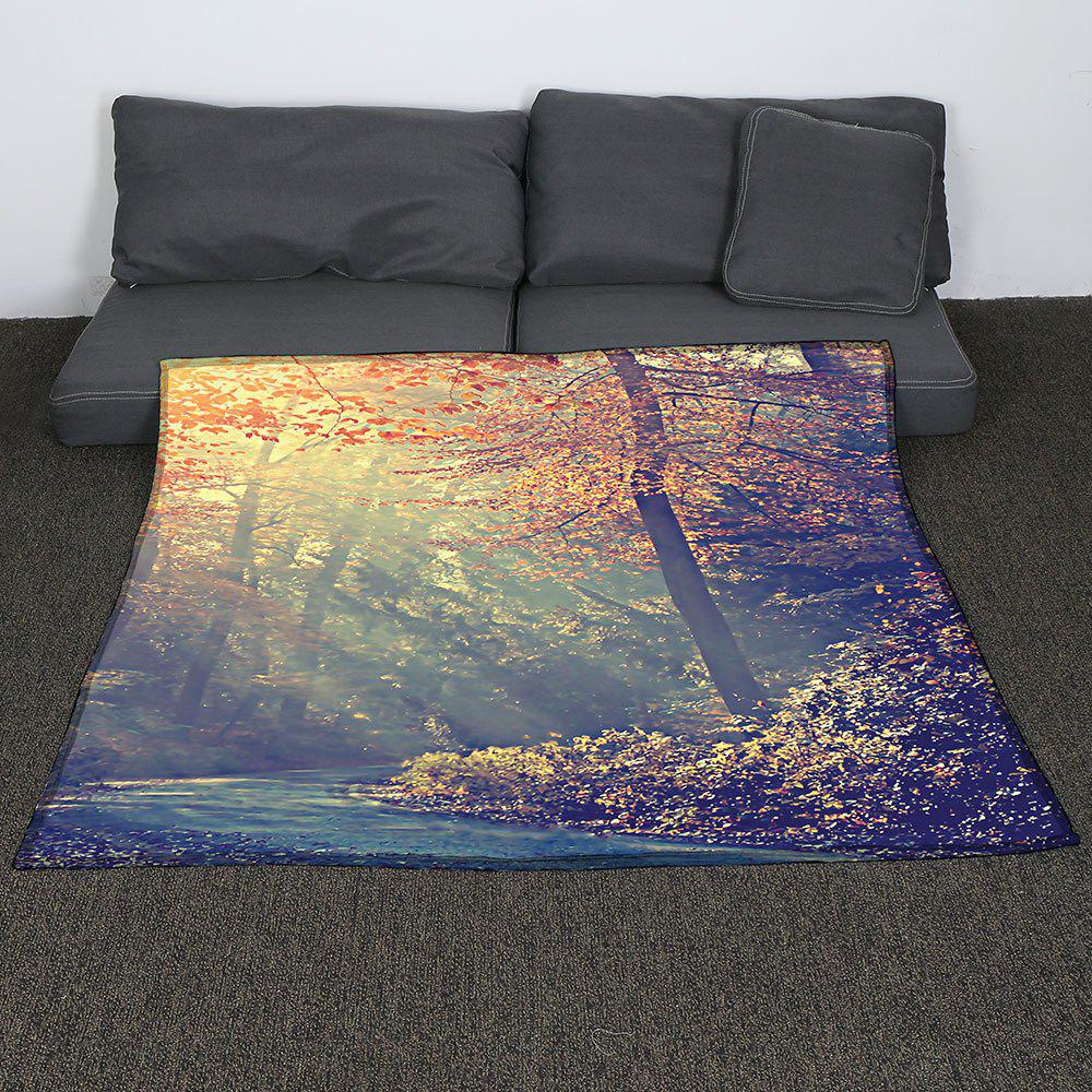 Maple Pattern Coral Fleece Sofa Blanket - COLORMIX W59INCH*L70INCH