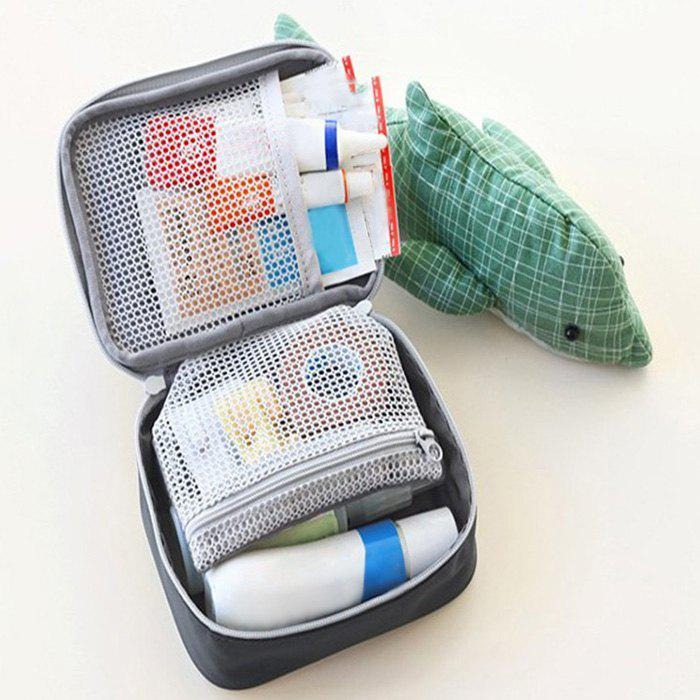 Portable Travel First Aid Medical Bag - GRAY