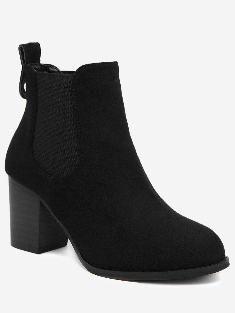 Chunky Heel Elastic Band Ankle Boots chunky heel elastic band ankle boots