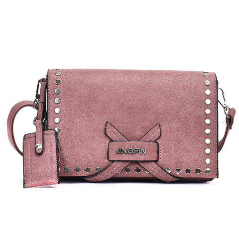 Criss Cross Studs Crossbody Bag - PINK