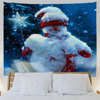 Magic Stick Christmas Snowman Wall Decor Tapisserie - Bleu W59 INCH * L59 INCH
