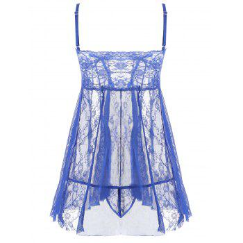 Lace Slip See Through Babydoll - BLUE BLUE