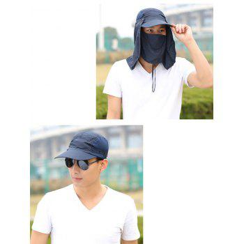Outdoor Sport Detachable Quick Dry UV Protection Hat - PURPLISH BLUE