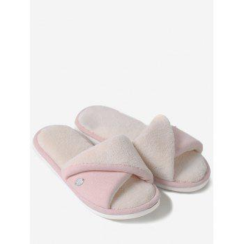 Open Toe Faux Fur House Slippers - PINK SIZE(36-37)