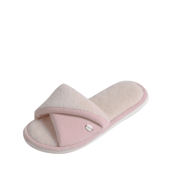 Open Toe Faux Fur House Slippers - PINK PINK
