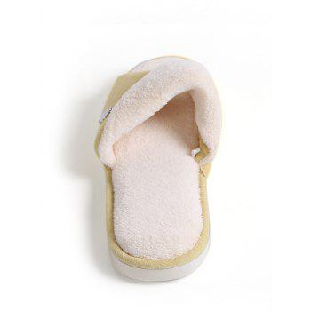 Open Toe Faux Fur House Slippers - YELLOW SIZE(36-37)