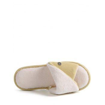 Open Toe Faux Fur House Slippers - SIZE(36-37) SIZE(36-37)