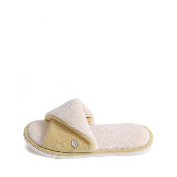 Open Toe Faux Fur House Slippers - YELLOW SIZE(38-39)