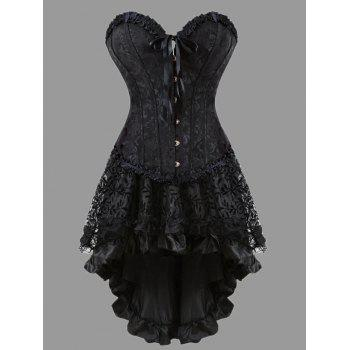 Flounce Plus Size Two Piece Corset Dress