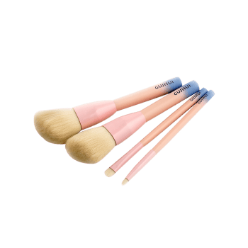 4 PCS Three Tones Makeup Brush Suit -  PINK