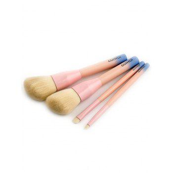 4 PCS Three Tones Makeup Brush Suit - PINK PINK