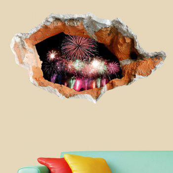 Waterproof Floor Sticker 3D Hole Fireworks Wall Decal - COLORFUL COLORFUL