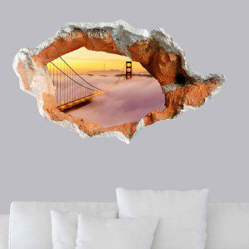 Waterproof Floor Decal 3D Hole Suspension Bridge Wall Sticker - COLORMIX COLORMIX