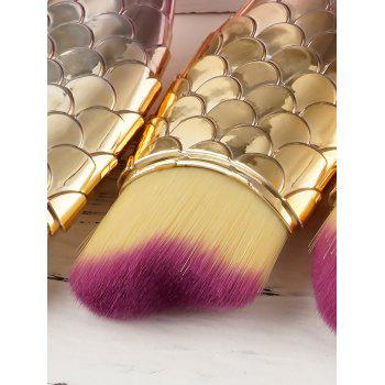 3 PCS Small Fish Makeup Brush Suit -  GOLDEN